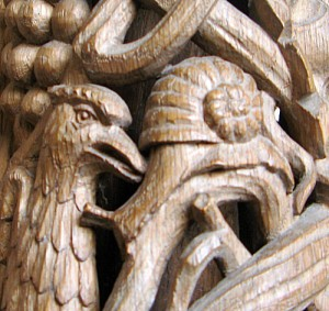 Carved snail