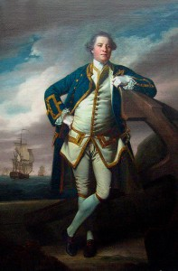 Capt Philemon Pownall painted by Joshua Reynolds in 1762